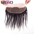 7A Brazilian Curly Lace Frontal Closure Virgin Human Hair 13x4 Full Lace Frontal Closure Brazilian Kinky Curly Virgin Hair