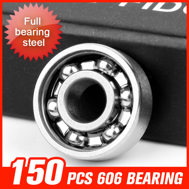 150pcs 606 Bearings Full Bearing Steel With 6 Beads For Skating Metal Fingertip Gyro Machine Roller Small Motor Tool Accessories 1000pcs 9 beads 688 bearing for waste incinerator machine fan motor skating roller board shaft hardware tool accessorie