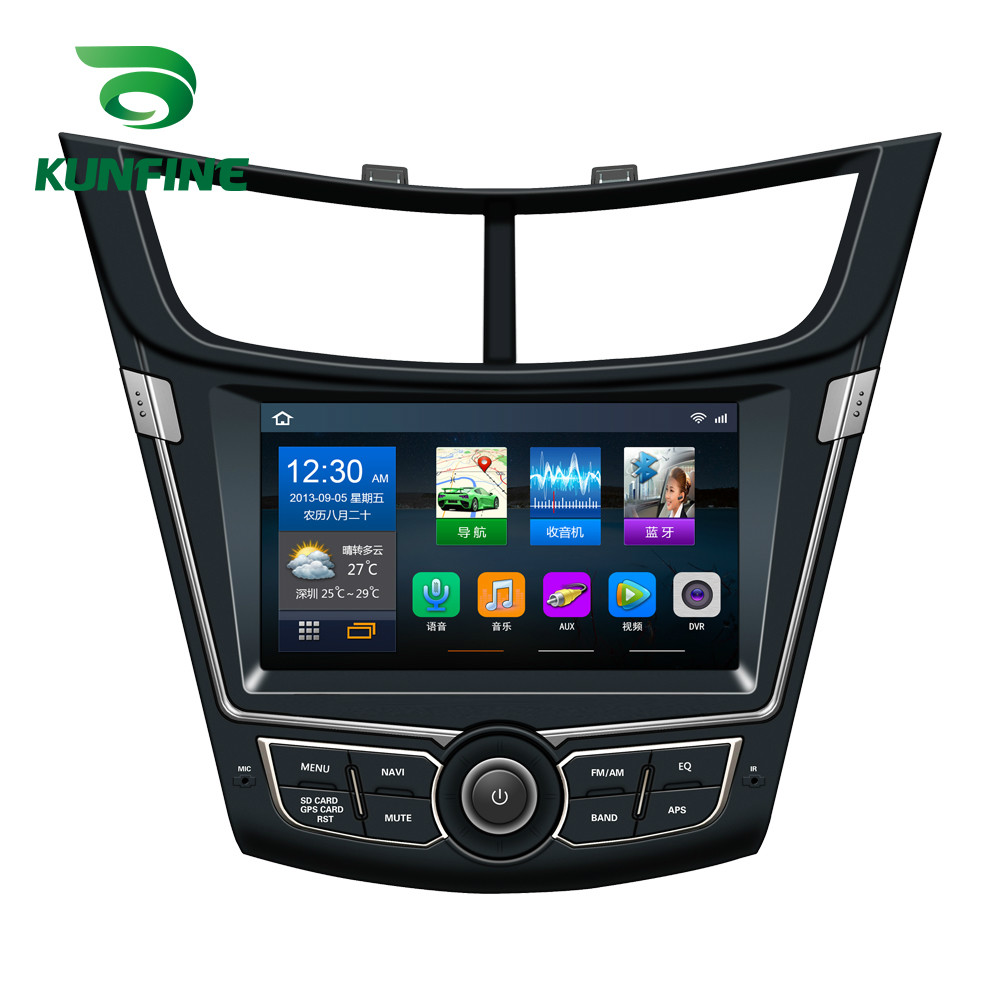 Quad Core 1024*600 Android 6.0 Car DVD GPS Navigation Player Deckless Car Stereo for Chevrolet SAIL 2015 2016 2017 2018 Headunit