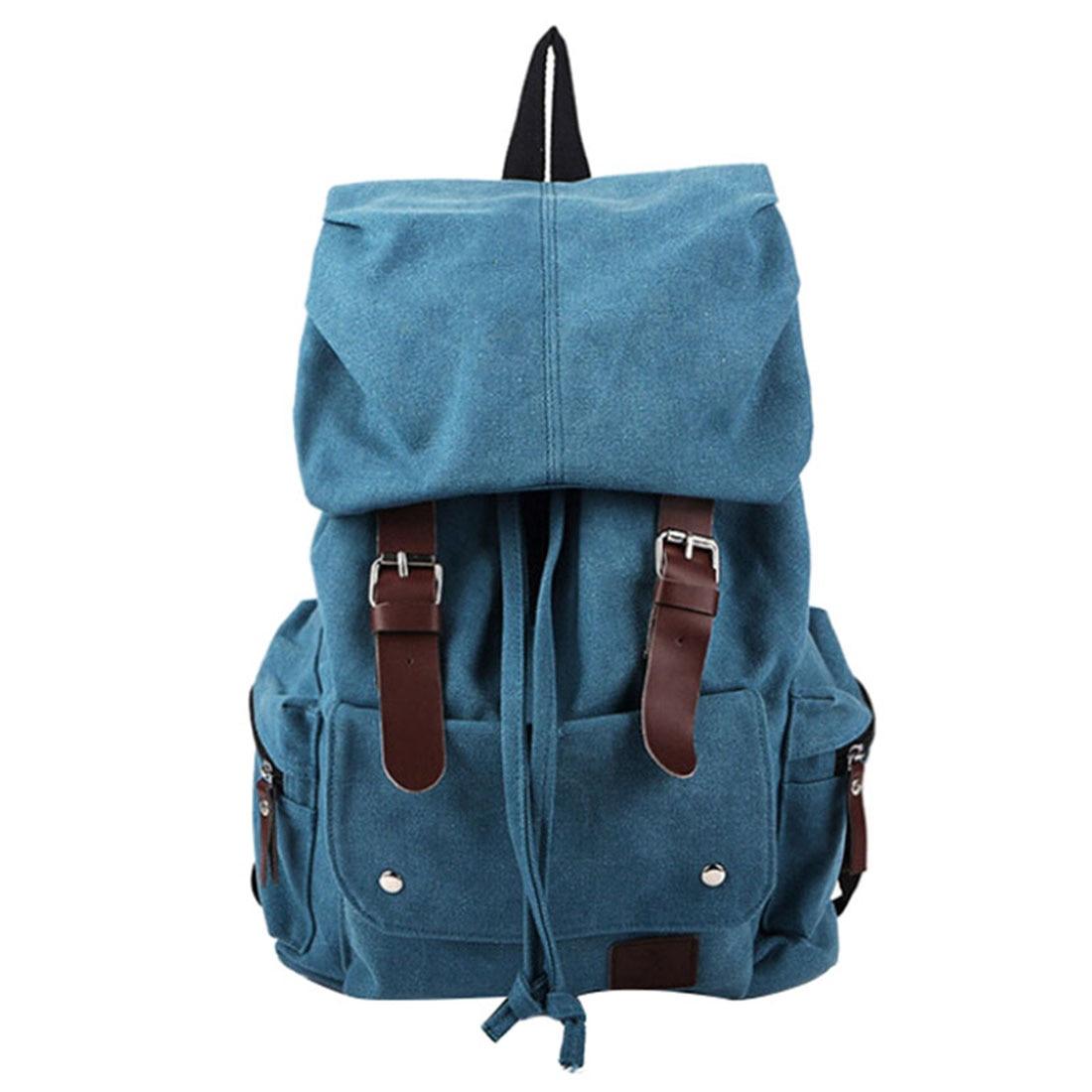 ffe5a96fa8c1 Fashion Men s Backpack Vintage Canvas Shoulder bag Backpack school bag  travel bag