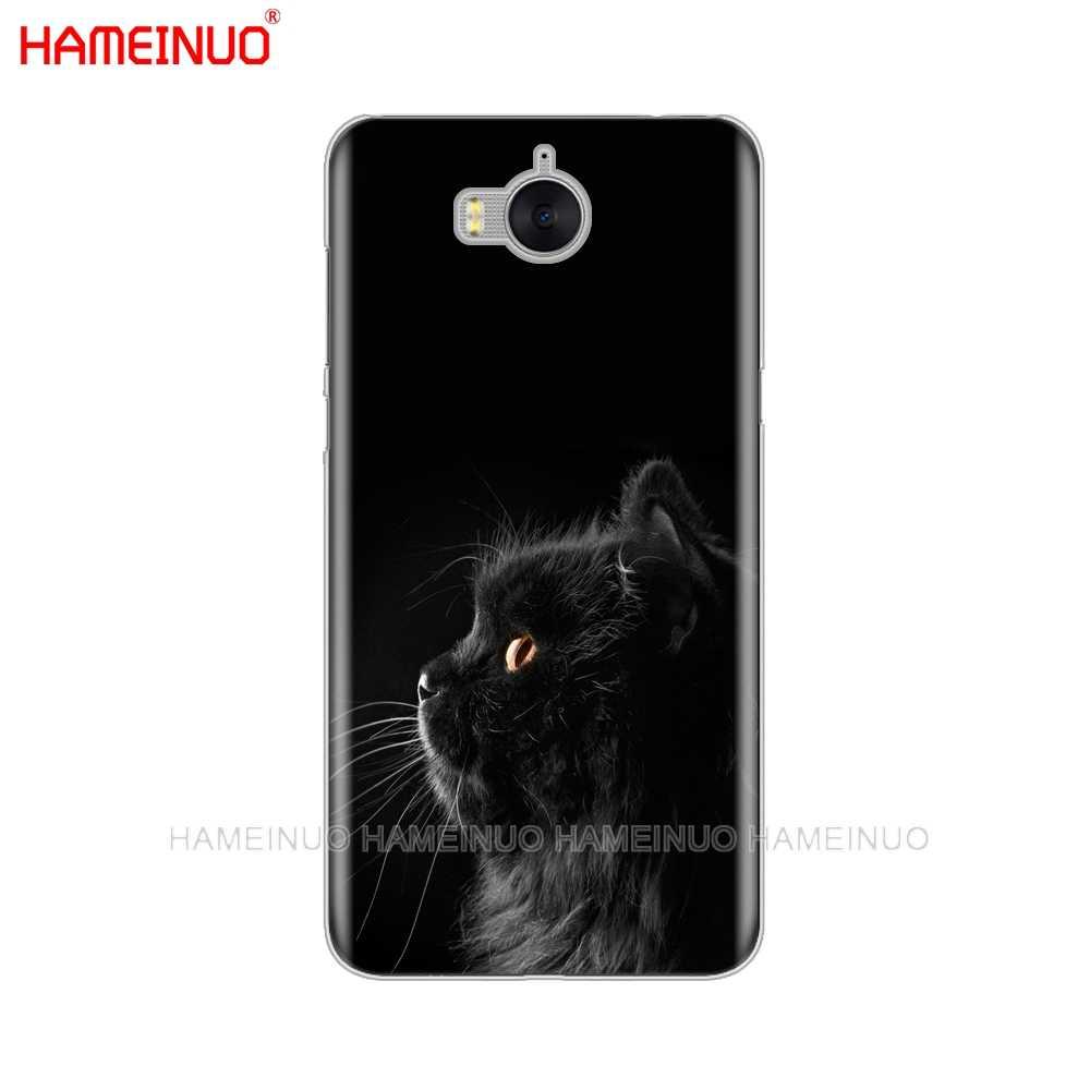 HAMEINUO czarny kot patrząc na oku na telefon komórkowy etui na Huawei honor 3C 4X 4C 5C 5X6 7 Y3 y6 Y5 2 II Y560 2017