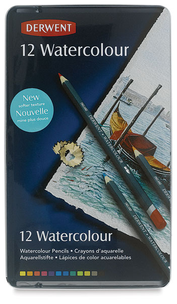 ФОТО Freeshipping DERWENT Master Watercolour Soluble Color Lead Pen 12 Color 3.5 MM Refill Painting Special Purpose