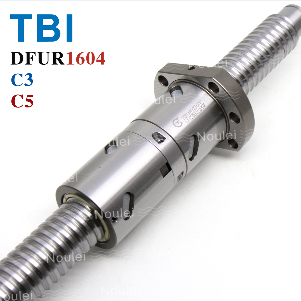 TBI C3 C5 DFU 1604 Ballscrew DFU1604 with Ball Nut 4mm lead for CNC kit set 400mm 500mm Grinding ball screw art east 16110 магнит гипсовый коза овца эк в асс