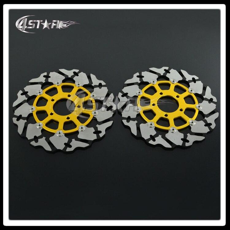 Золото мотоциклов передние плавающие тормозного диска ротора для GSXR GSX600R GSX750R GSX1000R TL1000R TL1000S GSX1300R Hayabusa