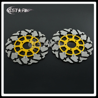 Gold Motorcycle Front Floating Brake Disc Rotor For GSXR GSX600R GSX750R GSX1000R TL1000R TL1000S GSX1300R Hayabusa