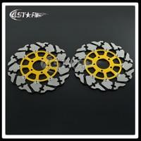 Gold Motorcycle Front Floating Brake Disc Rotor For GSXR GSX600R GSX750R GSX1000R TL1000R TL1000S GSX1300R Hayabusa