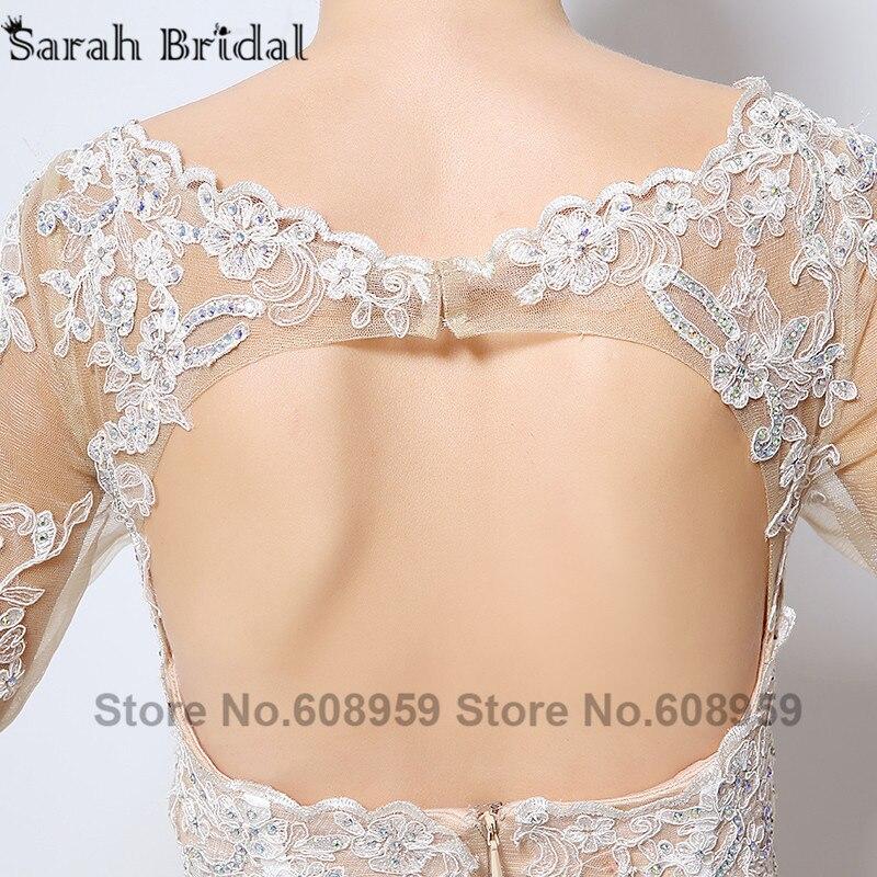 Nude Cut Srebrna večernja haljina Nova moda Crystal čipka tri - Haljina za posebne prigode - Foto 5