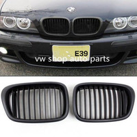 One pair Black Matt Front Kidney Grilles Grill For BMW E39 525 528 530 535 M5 2000 2003