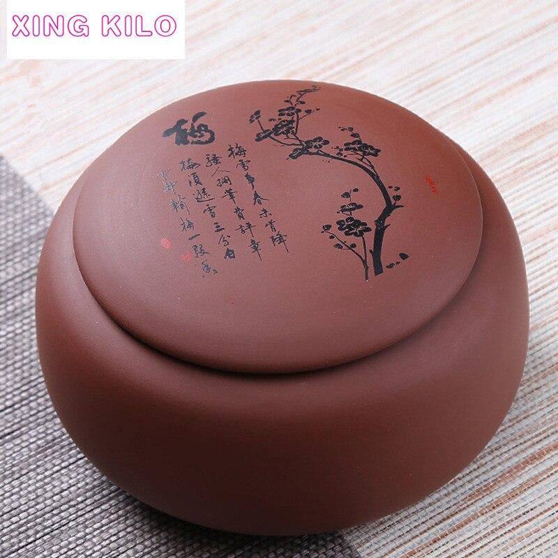 XING CHILO di Grandi Dimensioni Tea Caddy Ceramica Tè di Pu'er Vaso Sigillato Originale Miniera Insieme di Tè Viola Scatola di Sabbia