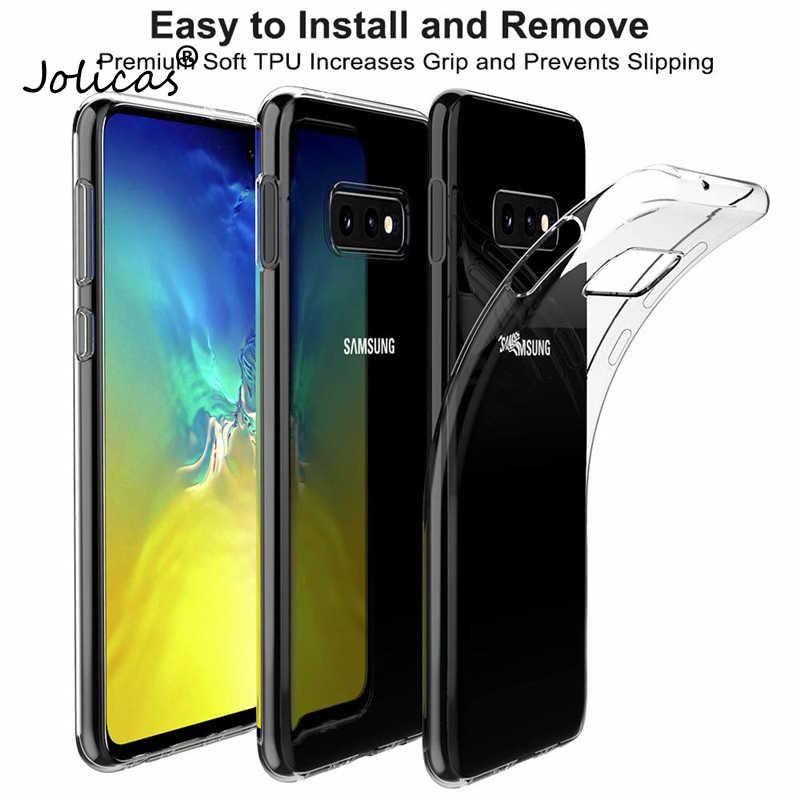 TPU وسادة هوائية العاني للخبط جراب هاتف ل غالاكسي S10E S9 S8 زائد S7 S6 سامسونج M20 A7 A6 A8 J4 j6 زائد A9 سيليكون رقيقة جدا غطاء