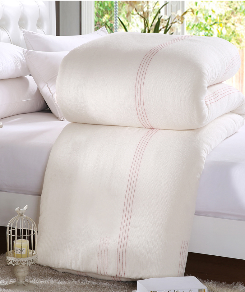 <font><b>150*200</b></font> Thick Comforter Gauze Quilt Core Fresh Long staple Cotton edredon Single edredom futon coton blanket duvet funda nordica image