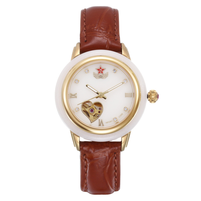 2020 New Time-limited Hetian Jade Watch Fashion Pentagon Couple Waterproof Automatic Hollow-out Machinery