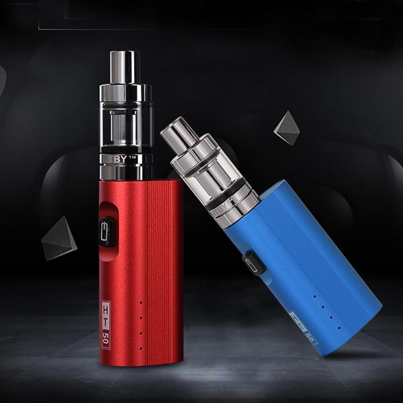 2019 Original HT 50w Electronic Cigarette 50w Box Mod Kit 2200mah Battery With 2.0ml Atomizer Hookah Vape Pen Kit Vaporizer