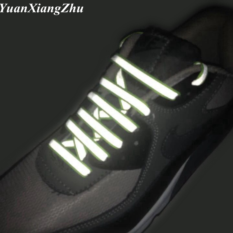 1Pair Luminous Glowing Shoelaces 3M Reflective Shoelaces Sneaker Shoestrings Running Shoelace Unisex Fashion Shoe Laces