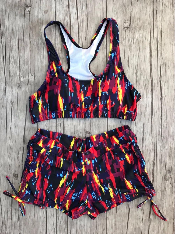 Vintage Two Piece Swimsuit Sexy Әйелдер Басып - Спорттық киім мен керек-жарақтар - фото 4