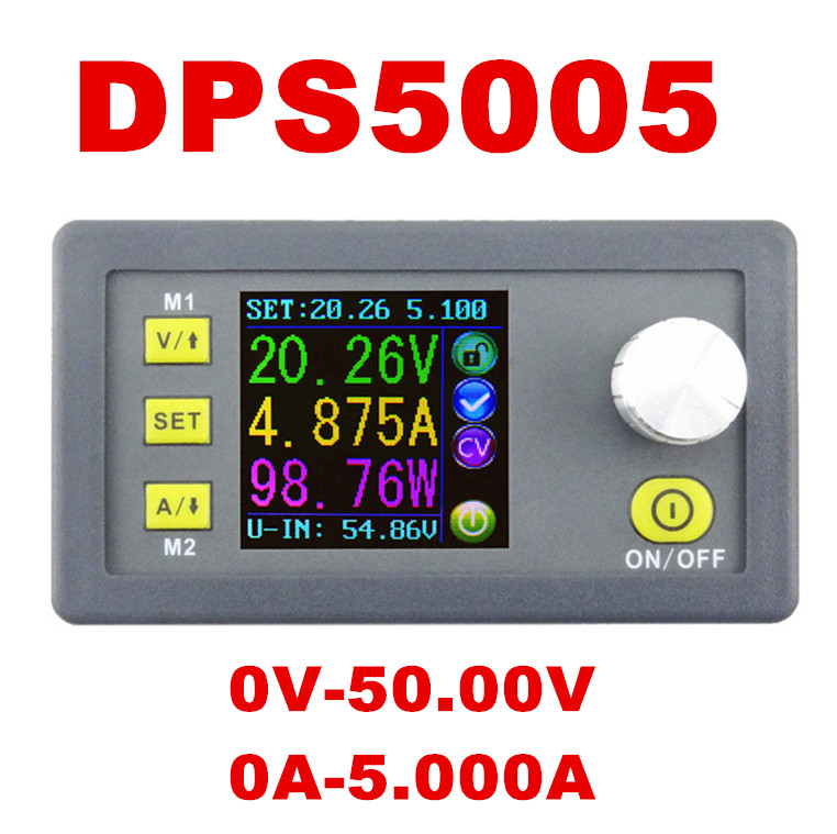DPS5005 0V-50.00V Constant Voltage meter 0-5.000A current tester Step-down Programmable Power Supply module regulator converter