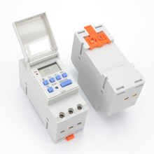 AC 220V Digital LCD Power Timer Programmable Time Switch Relay 16A Temporizador with Din Rail