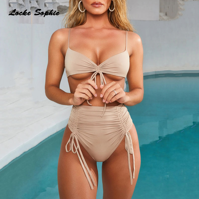 2 piece set women Sexy Bra and shorts 2019 Summer cotton Splicing Bandage super bikini suits set ladies Skinny Sexy suit twinset in Women 39 s Sets from Women 39 s Clothing