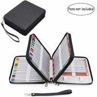 120 Slots Pencil Case Large Capacity Travel Portable Colored Pencil Holder Pen Zipper Bag Pouch For