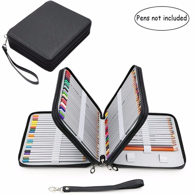 120 Slots Pencil Case,Large Capacity Travel Portable Colored Pencil Holder Pen Zipper Bag Pouch for Artist Students Stationary