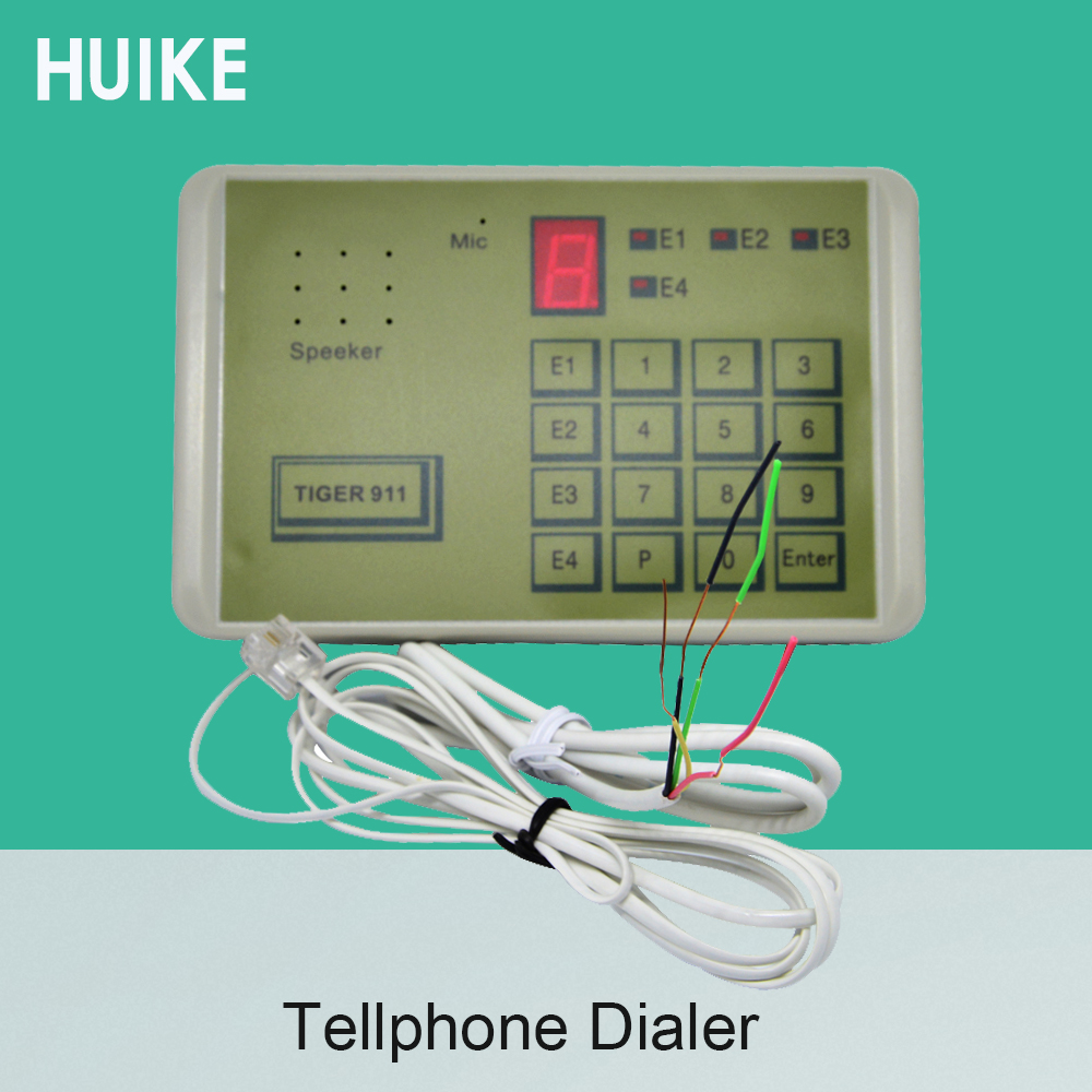 (1 Set) Communication Equipment Tiger 911 Telephone Dialer Tool Input NC NO Signal Or Voltage GSM Alarm System Accessories