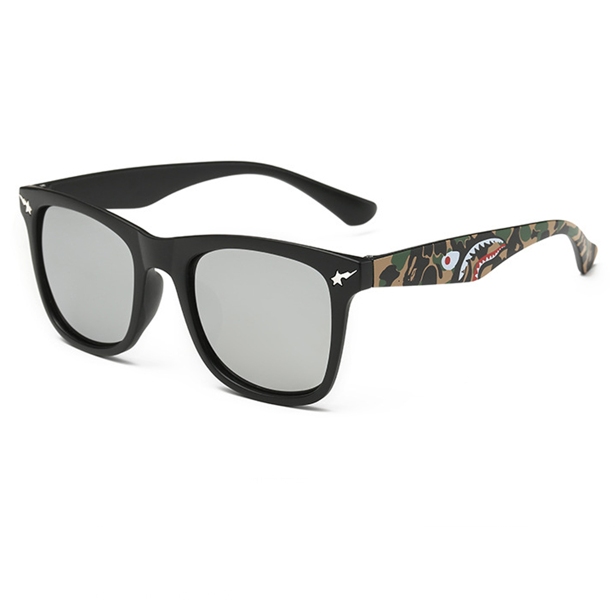 spy keaton eyegles frame only metal army camo