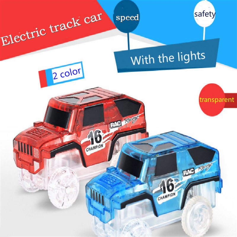 90pcs DIY Magic Electronics LED Cars Toys Flashin Variety Speed Car Train Model Assembly Racing Rail Tracks Car Toy For Children in Diecasts Toy Vehicles from Toys Hobbies