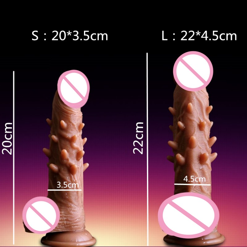 2019 Huge Dildo New Skin feeling Realistic Penis Free Suction Cup Dildo Vibrator for Women Masturbator Couple Sex Toys in Dildos from Beauty Health