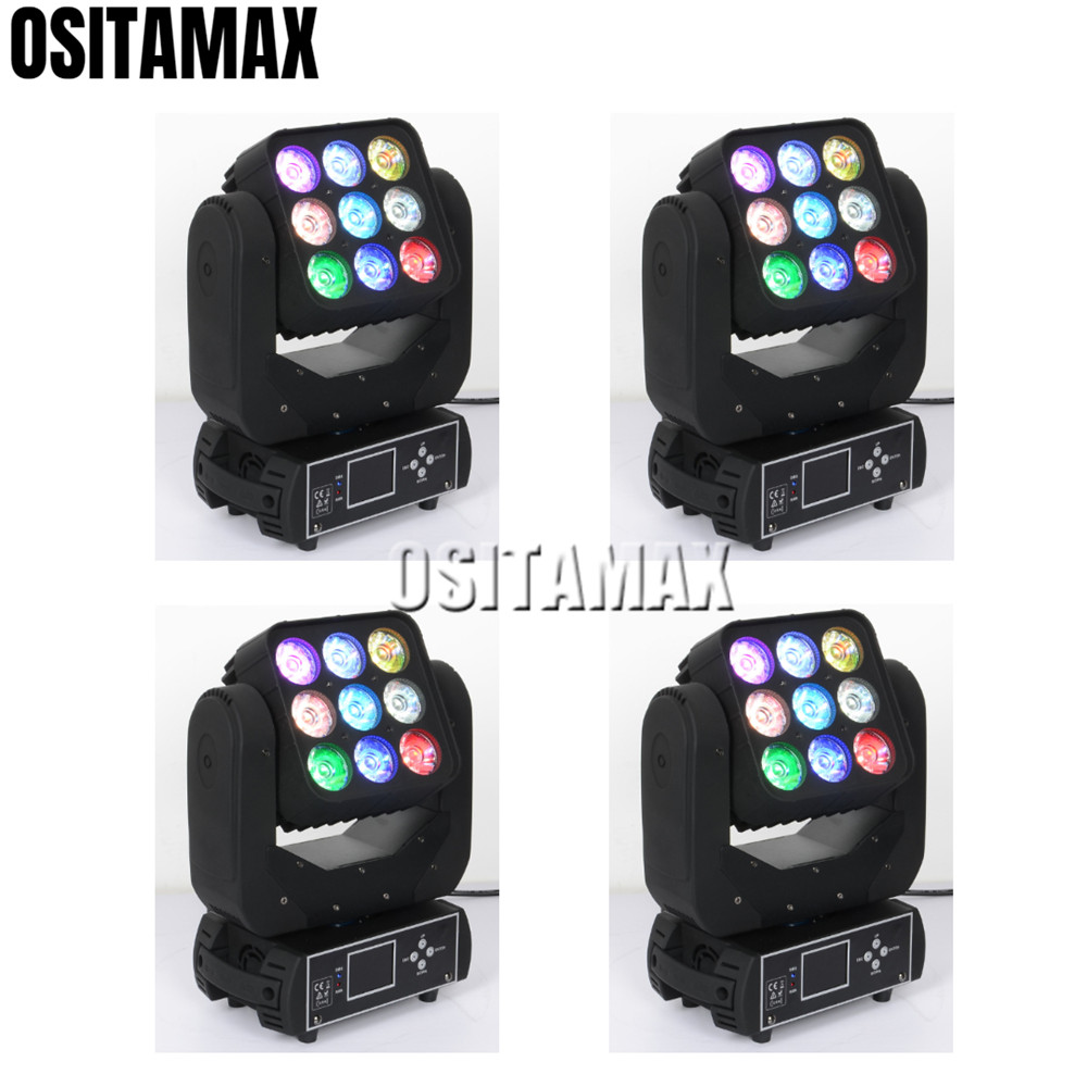 Commercial Lighting Popular Brand 4/lot Led Moving Head Light Matrix 9x12w Beam Effect Rgbw 4in1 Lyre Led Stage Moving Head Light Hot Sale 50-70% OFF Lights & Lighting