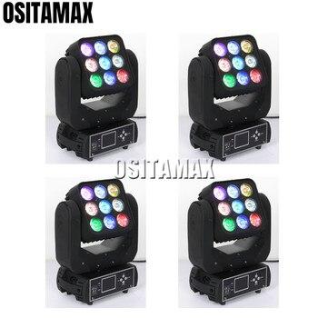OSITAMAX-A 4 sztuk/partia Blinder matrycy światło do mycia 9x12 w efekt wiązki RGBW 4IN1 liry Blinder ruchome głowy