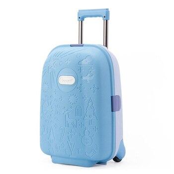 807418e4b596d Sevimli Karikatür çocuk bavul Haddeleme Bagaj Çocuklar seyahat Bavul  Tekerlekli tekerlekli çanta Kabin Bagaj Okul Çantası Üzerinde Taşımak  Oyuncak kutusu