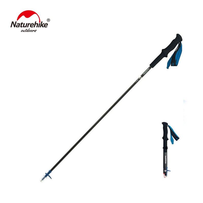 Naturetrekking ultra-léger 4 sections pliable réglable bâtons de randonnée en Fiber de carbone marche bâtons de randonnée NH18D020-Z
