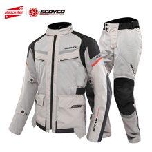 SCOYCO Motorcycle Jacket Men Breathable Mesh Moto Jacket Motocross Protective Gear Motorbike Racing Chaqueta Moto Clothing M-3XL цена в Москве и Питере