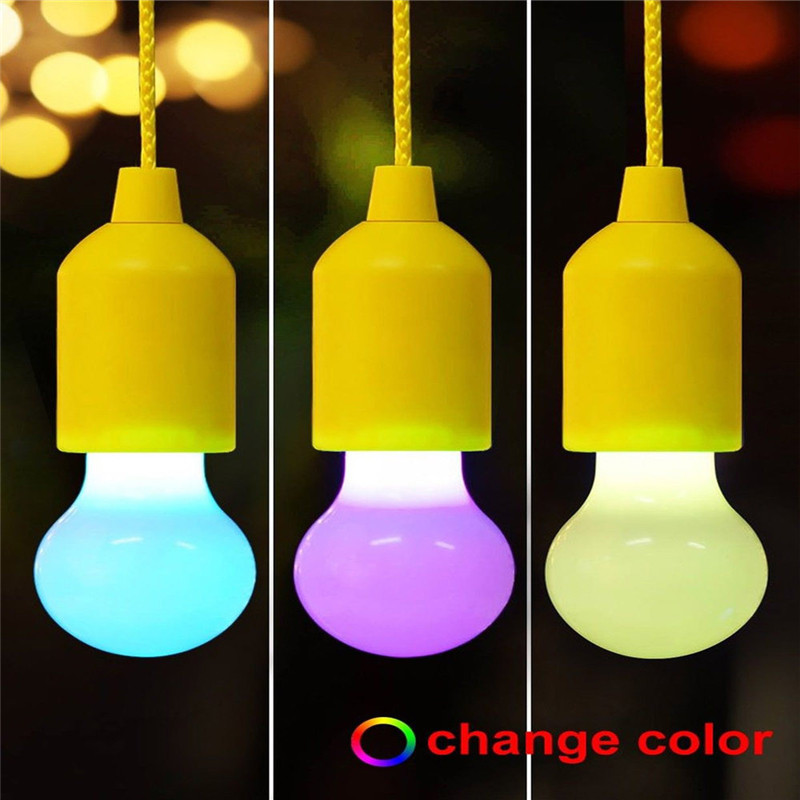 2018 Portable LED Pull Cord light Bulb Outdoor Garden Camping Hanging LED Light Lamp