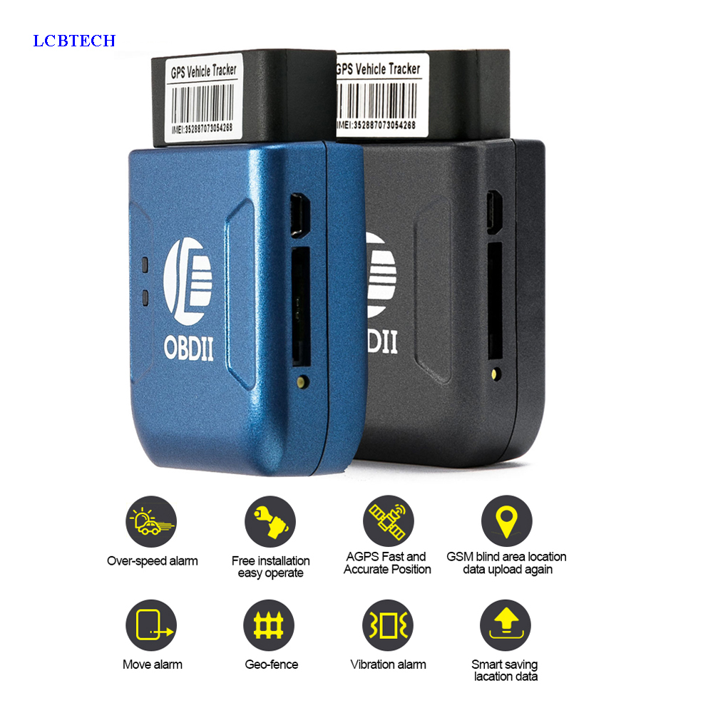 Real-Time-Tracker TK206 GPRS OBD2 Alarm-Alert Vibration Car with Geofence Protect Cell-Phone-Sms