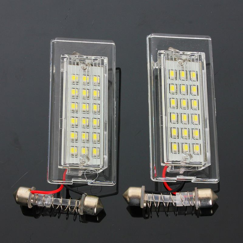 1Pair License Plate Light For BMW X5 E53 X3 E83 2003-2010 18 LED Bulbs Car Number Plate Lamp Car Styling Light Source one pair 12v 18 leds number car license plate lights white lamp error free car exterior light for bmw x5 e53 x3 e83 me3l