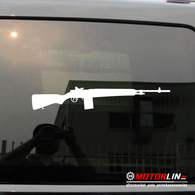 US $3 9 |M1A Car Decal Sticker Carbine Rifle M2 M3 M1 M14 Vietnam WW2 Vinyl  Pick your color and size!-in Car Stickers from Automobiles & Motorcycles