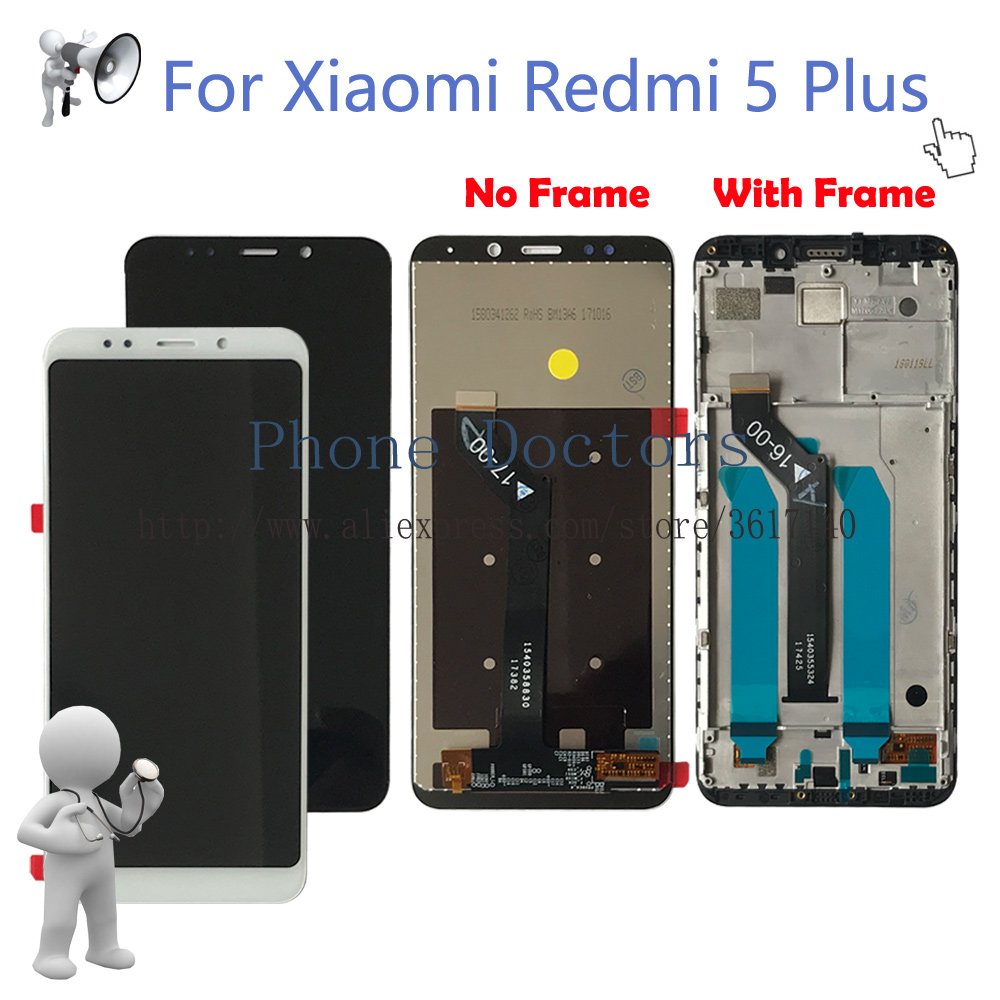 5.99 For Xiaomi Redmi 5 Plus Full LCD DIsplay + Touch Screen Digitizer Assembly + Frame Cover For Redmi 5Plus MEG7 LCD Replace