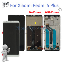 """5.99"""" For Xiaomi Redmi 5 Plus Full LCD DIsplay + Touch Screen Digitizer Assembly + Frame Cover For Redmi 5Plus MEG7 LCD Replace"""