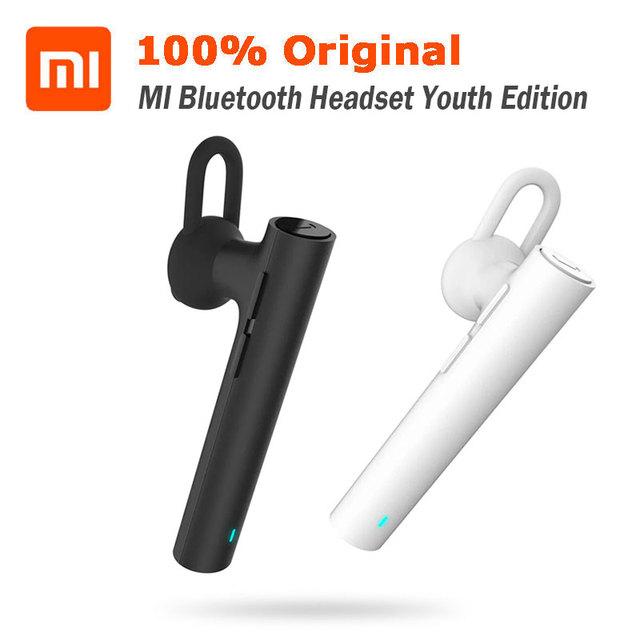 Mi xiaomi originais fone de ouvido bluetooth edição juventude fones de ouvido handsfree para o iphone samsung lg android telefone cancelamento de ruído do vento