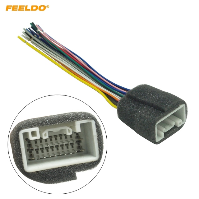 Feeldo Car Radio Stereo Wiring Harness Adapter For Mitsubishi Lance  Outlander  Mirage Aftermarket