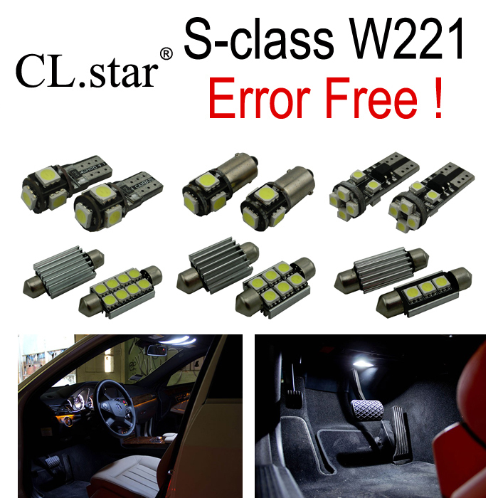 26pcs Error free LED Bulb Interior Light Kit for Mercedes for Mercedes-Benz S class W221 S300 S350 S400 S500 S550 S600 (2006+) wiper blades for mercedes benz cls class coupe w219 26