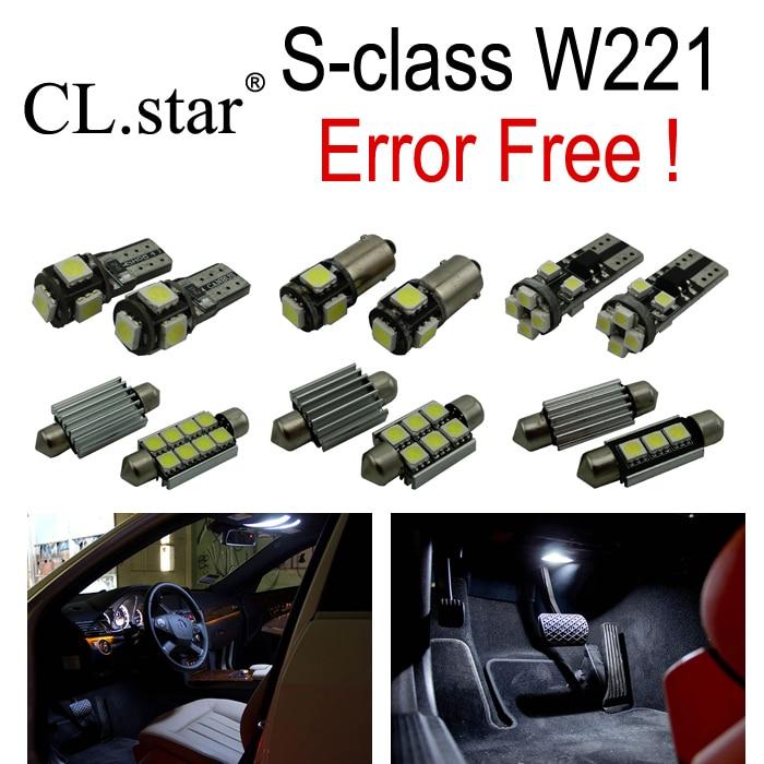 26pcs Error free LED Bulb Interior Light Kit for Mercedes for Mercedes-Benz S class W221 S300 S350 S400 S500 S550 S600 (2006+) auto fuel filter 163 477 0201 163 477 0701 for mercedes benz