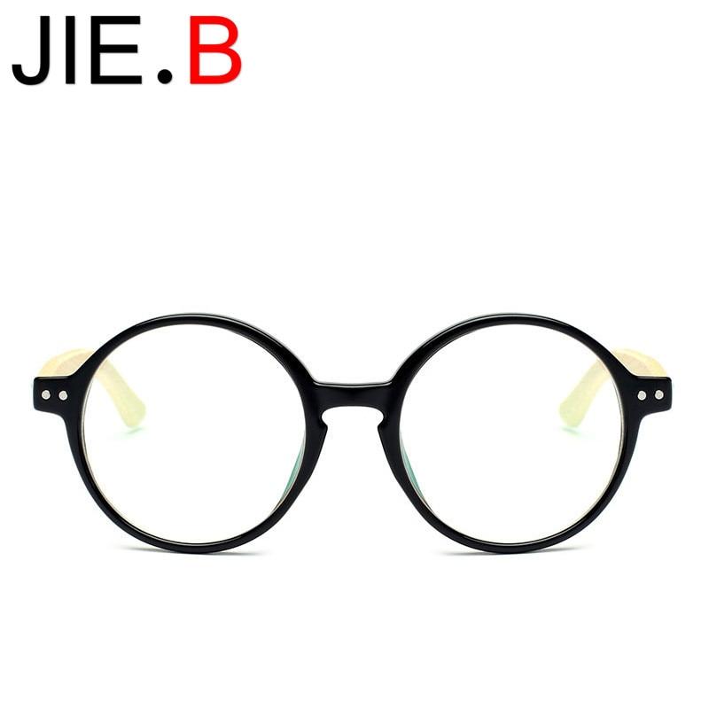 New trend handmade bamboo legs retro glasses frame round with myopia unisex type