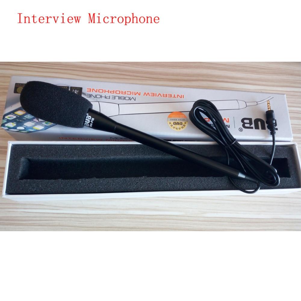 Portable Brand BUB Interview Mikrofon Optagelsesmikrofon til iPhone 6s iPad Air Pro Android-telefoner Retningsmæssig håndholdt mikrofon