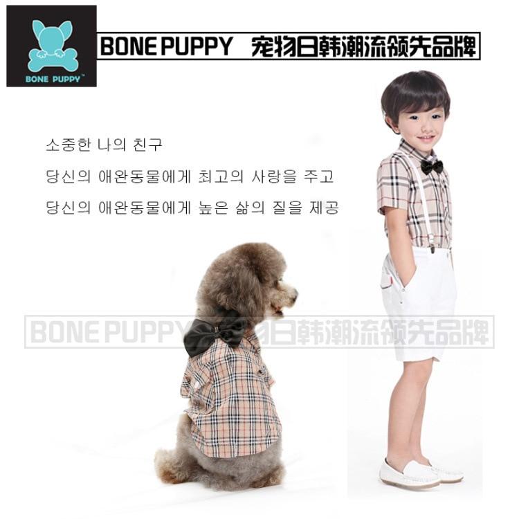 1470d24d9821 Spring Summer Goods Brand England Gentleman Pets Clothes dog Shirt ...