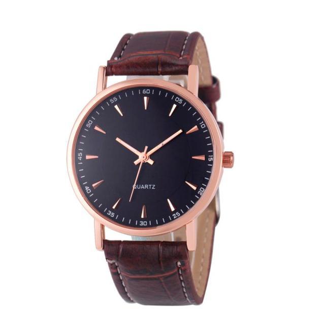 Dignity Fashion Unisex Leisure Crocodile Leather Analog Quartz Wrist Watch Watch
