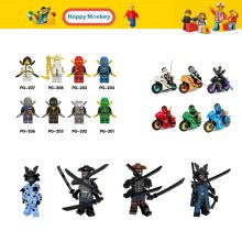 Hot For Children Ninjago Series with motorcycle Master Wu Garmadon Set N-POP Girl NYA Building Blocks Compatible LegoINGly WY30(China)