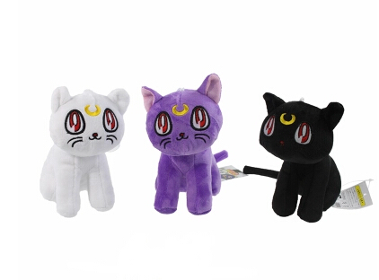 3pcs/set Sailor Moon Luna Cat Family portrait Anime plush toy