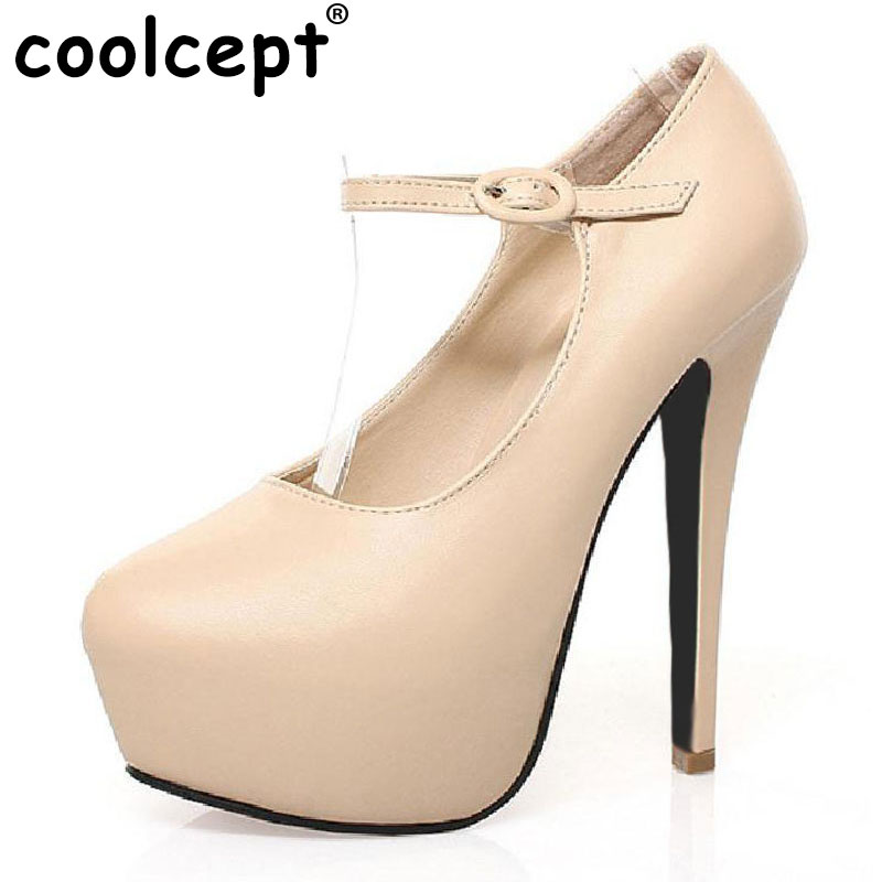 Coolcept women high heel shoes dress sexy fashion lady wedding platform round toe heels pumps H149 size 35-40 chrome plated brass physical optics saccharimeter refract meter 0 80